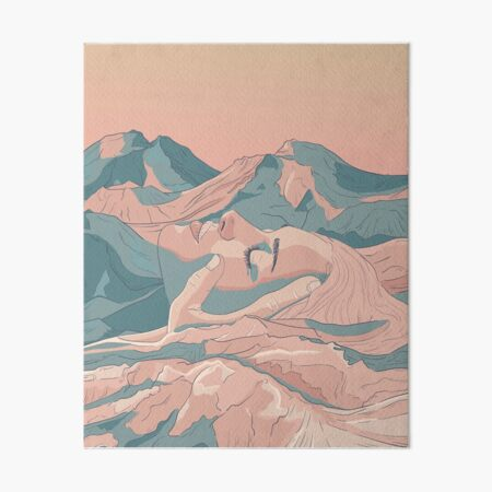I Saw Her Face In The Mountains Art Board Print
