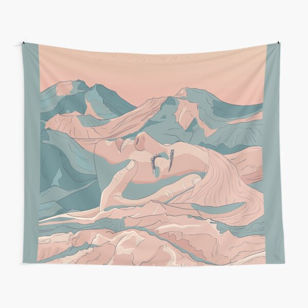 I Saw Her Face In The Mountains Tapestry