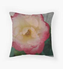 Two-toned Rose Throw Pillow