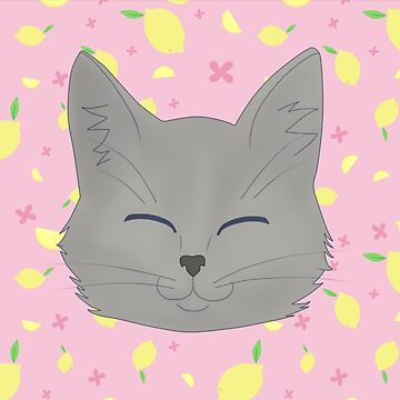 cute cat with lemon background by lordofcats