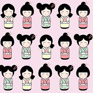 Kokeshi Doll Pattern by valleone