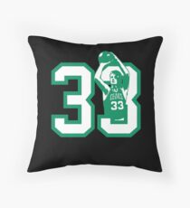 Bird Gang, Larry Bird, Boston Basketball Throw Pillow
