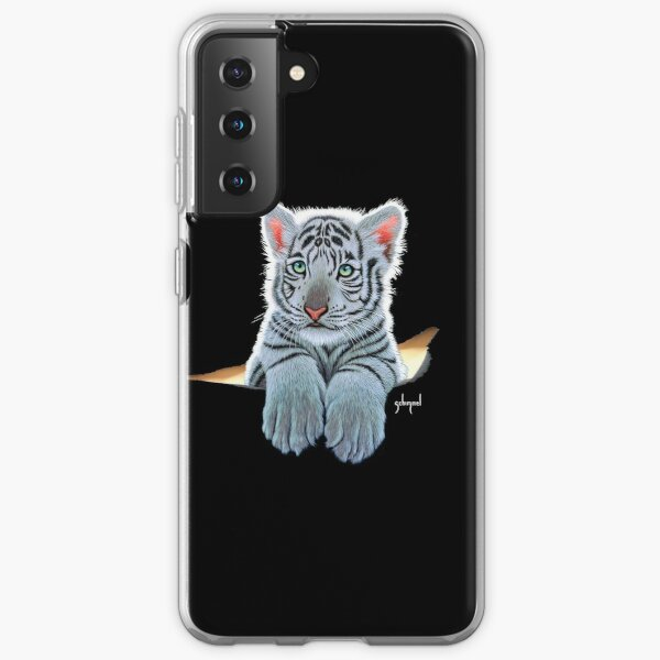 White Tiger Cub, tiger inside Samsung Galaxy Soft Case