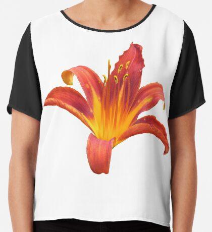 eine zauberhafte Lilie, Blume, orange, Lily, Blüte Chiffontop für Frauen