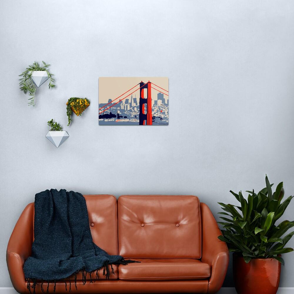 Golden Gate Bridge and skyline  Metal Print