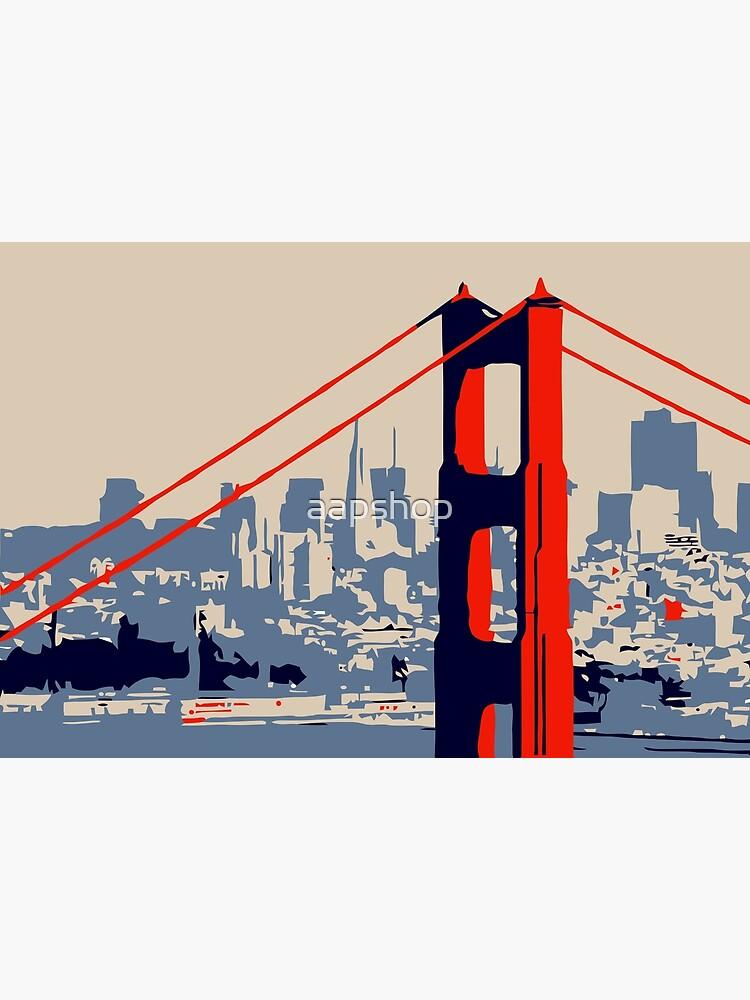 Golden Gate Bridge and skyline  by aapshop