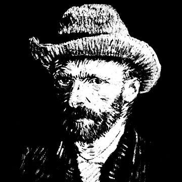 Van Gogh - White on Black by goldenanchor