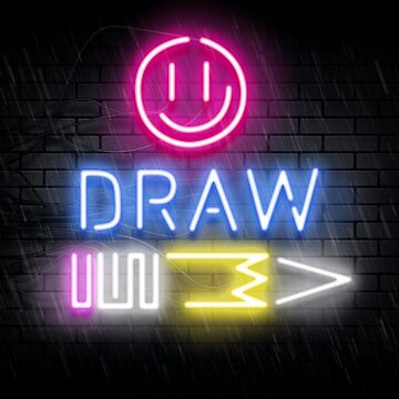 Neon Draw Sign by bobblehead1337