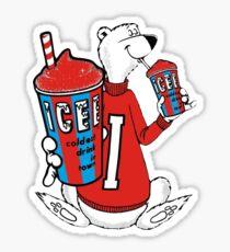 Polar Bear Drinking Icee Sticker