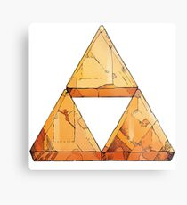 Tri Force Metal Print