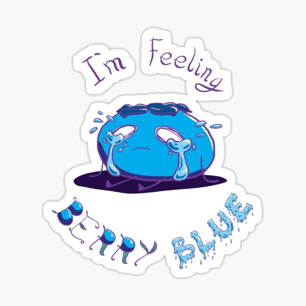 I'm Feeling BERRY BLUE Sticker