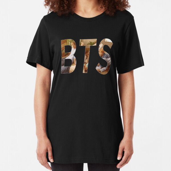 BTS Logo  Slim Fit T-Shirt