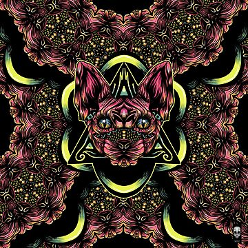 Sphynx floral color by fakeface