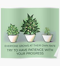 Everyone Grows at Their Own Rate Poster