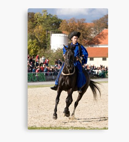 Hungarian rider at Lipica open day, Slovenia Canvas Print