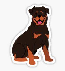 My Buddy the Rottweiler Sticker