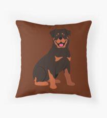 My Buddy the Rottweiler Throw Pillow