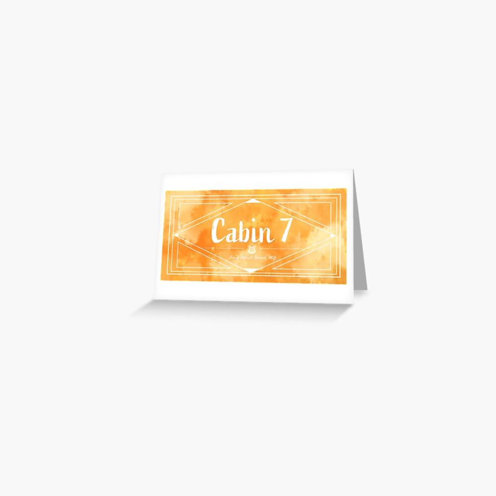 """cabin 7  apollo"" greeting cardsavannauni  redbubble"