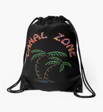 Palmen mit Mola Canal Zone in schwarz Rucksackbeutel
