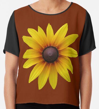 zauberhafte gelbe Blume, Blüte, Sommer, Sonne Chiffontop