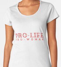 Pro-life, pro-woman Premium Scoop T-Shirt