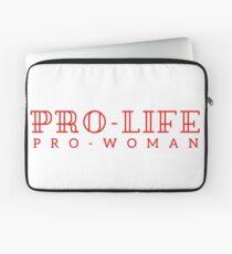 Pro-life, pro-woman Laptop Sleeve