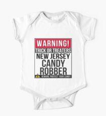 Warning! New Jersey Candy Robber - New Jerseyan Halloween Costume Gift One Piece - Short Sleeve