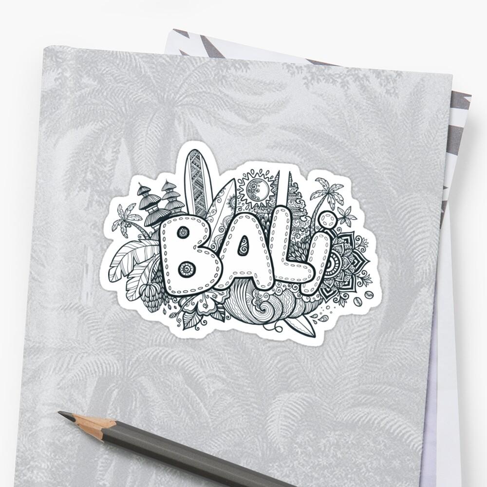 Bali Gekritzel Sticker
