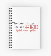 The Best Things in Life are Red Spiral Notebook