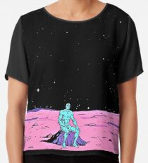 Dr. Manhattan sitzt auf dem Mars (Comic) Chiffontop