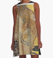 Portrait in Gold and Black ... by Gustav Klimt A-Line Dress