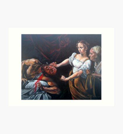 Judith Beheading Holofernes after Caravaggio Art Print