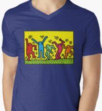 Haring Men's V-Neck T-Shirt