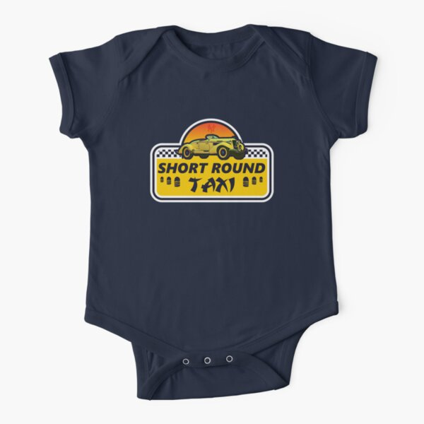 Short Round Taxi Short Sleeve Baby One-Piece