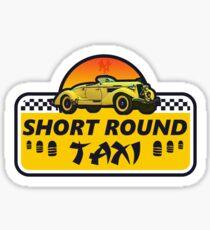 Short Round Taxi Sticker