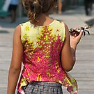 Girl with Crab by Gene  Tewksbury