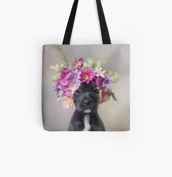 Flower Power, Joey All Over Print Tote Bag