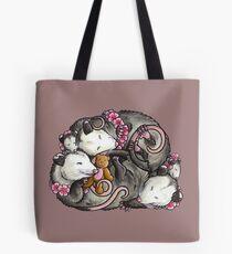 Sleeping Opossums Tote Bag