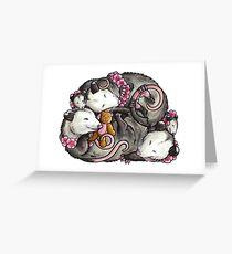 Schlafende Opossums Grußkarte