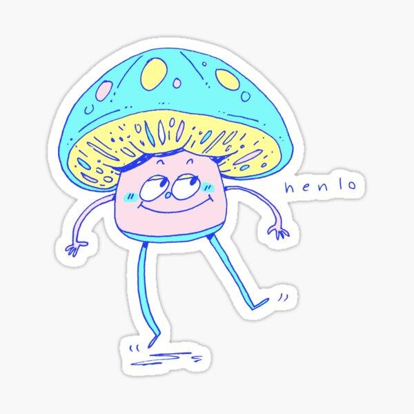 tap dancing mushroom Sticker