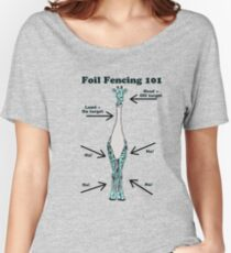 Foil Fencing Giraffe with Instructions Women's Relaxed Fit T-Shirt