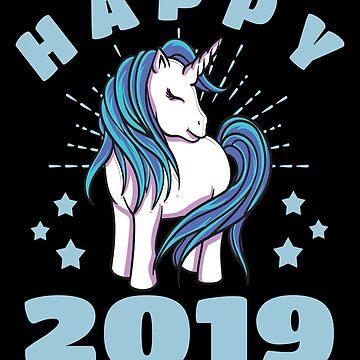 Happy 2019 Unicorn by iwaygifts