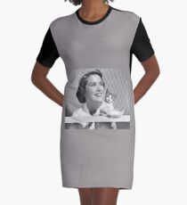 lady and the cat Graphic T-Shirt Dress