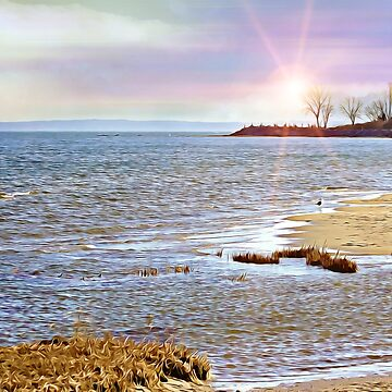 Sunset At The Beach - Tod's Point Art Print by JudyPalkimas