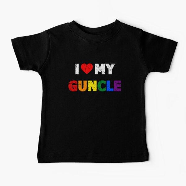 I Love My Guncle I Heart My Gay Uncle Baby T-Shirt