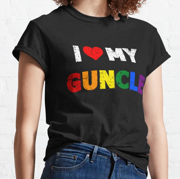 I Love My Guncle I Heart My Gay Uncle Classic T-Shirt