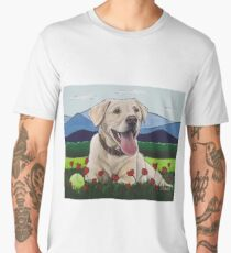 Colorful Yellow Lab art Men's Premium T-Shirt