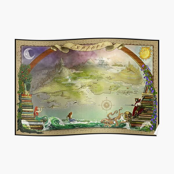 Story Book Map Poster