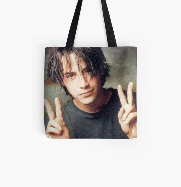 Peace Sign Keanu All Over Print Tote Bag