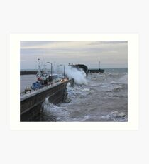 WAVES AT BRIDLINGTON Art Print